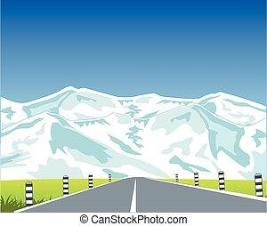 straat, in, bergen