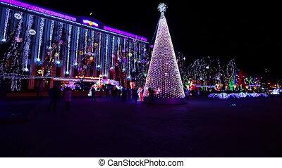 straat, kerstmis