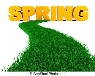 straat, om te, lente