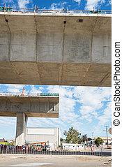 straat, onder, wederopbouw