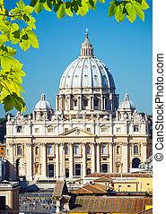 straat. peter, kathedraal, rome