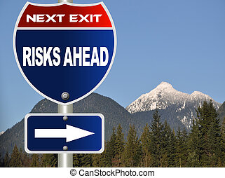 straat, risico's, meldingsbord, vooruit