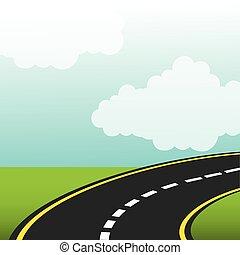 straat, snelweg