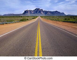 straat, woestijn, wildernis