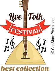 straatfeest, muziek, leven, embleem, folk-music
