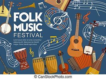straatfeest, muziekinstrumente, opmerkingen, muziek, folk-...