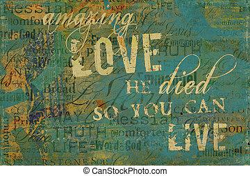 strabiliante, amore, religioso, fondo