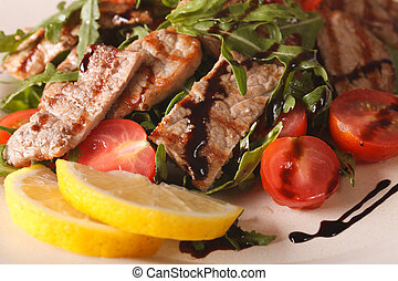 Straccetti di manzo salad with beef, arugula and tomatoes...