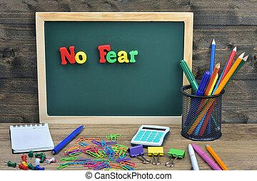 strach, słowo, nie