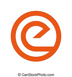 stract Letter e logo design template elements. abstract letter e. Business corporate letter e logo design vector