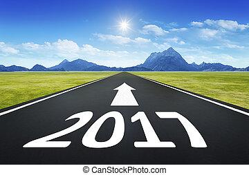 strada, 2017, numero, orizzonte
