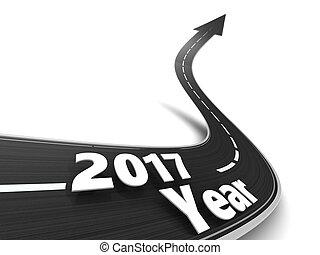 strada, a, 2017, anno