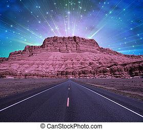 strada, a, montagna
