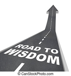 strada, a, saggezza, -, indicazione, a, illuminismo, e,...