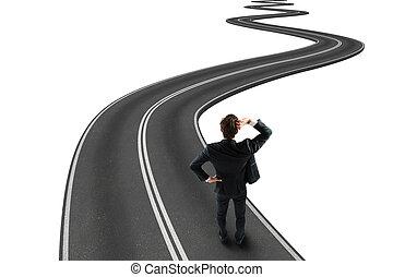 strada, a, scopo, 3d, interpretazione