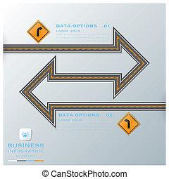 strada, affari, &, segno, infographic, traffico, sagoma, disegno, strada