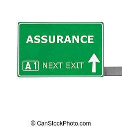 strada, bianco, isolato, assicurazione, segno