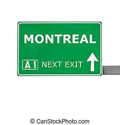 strada, bianco, isolato, montreal, segno