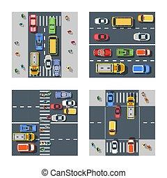 strada città, asfalto