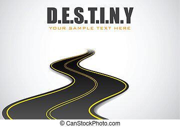 strada, destino, fondo