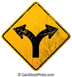strada forcuta, segno