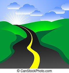 strada, illustrazione
