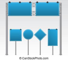 strada, illustrazione, segno
