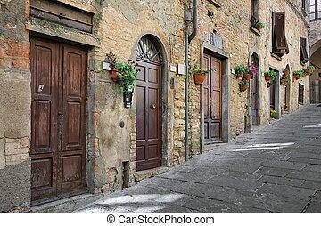 strada, italia, toscana, tipico