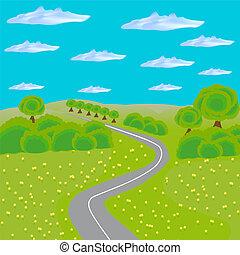 strada, paesaggio