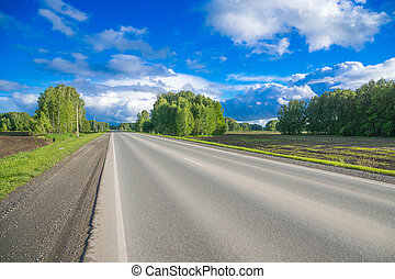 strada paese, orizzonte