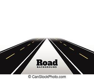 strada, prospettiva, orizzonte, asphat, fondo