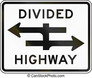 strada pubblica divisa