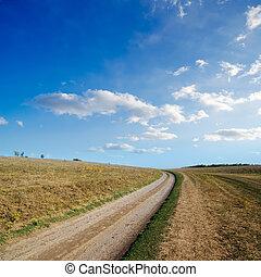 strada rurale, orizzonte