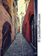 strada stretta, europeo