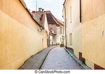strada stretta, vilnius, europeo
