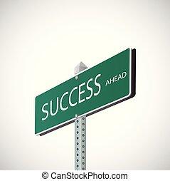 strada, successo, segno