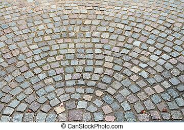 strada, vecchio, fondo, cobbled, pietre