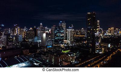 strade, città, costruzioni, luce