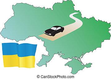 strade, di, ucraina