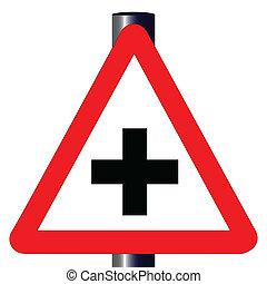 strade, traffico, croce, segno