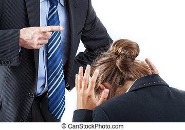 straf, op het werk