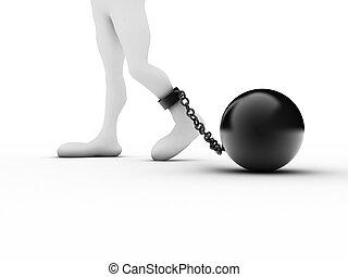 straffånge, vit, handklovar