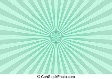 strahlen, grün, farben, hintergrund., pastell, abstrakt