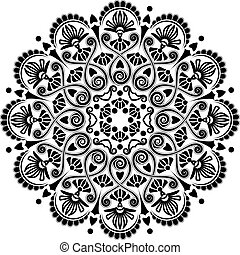 strahlig, muster, geometrisch