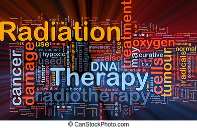 strahlung, glühen, begriff, therapie, hintergrund