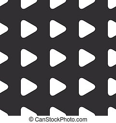Straight black play button pattern