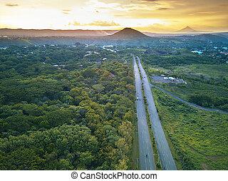 Straight highway road
