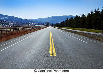straight highway - Winding Mountain Road in Colorado