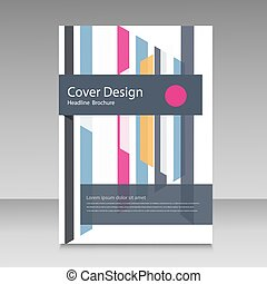 Straight lines abstract vector brochure template