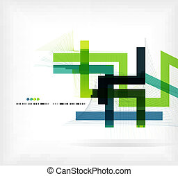Straight lines business colorful template